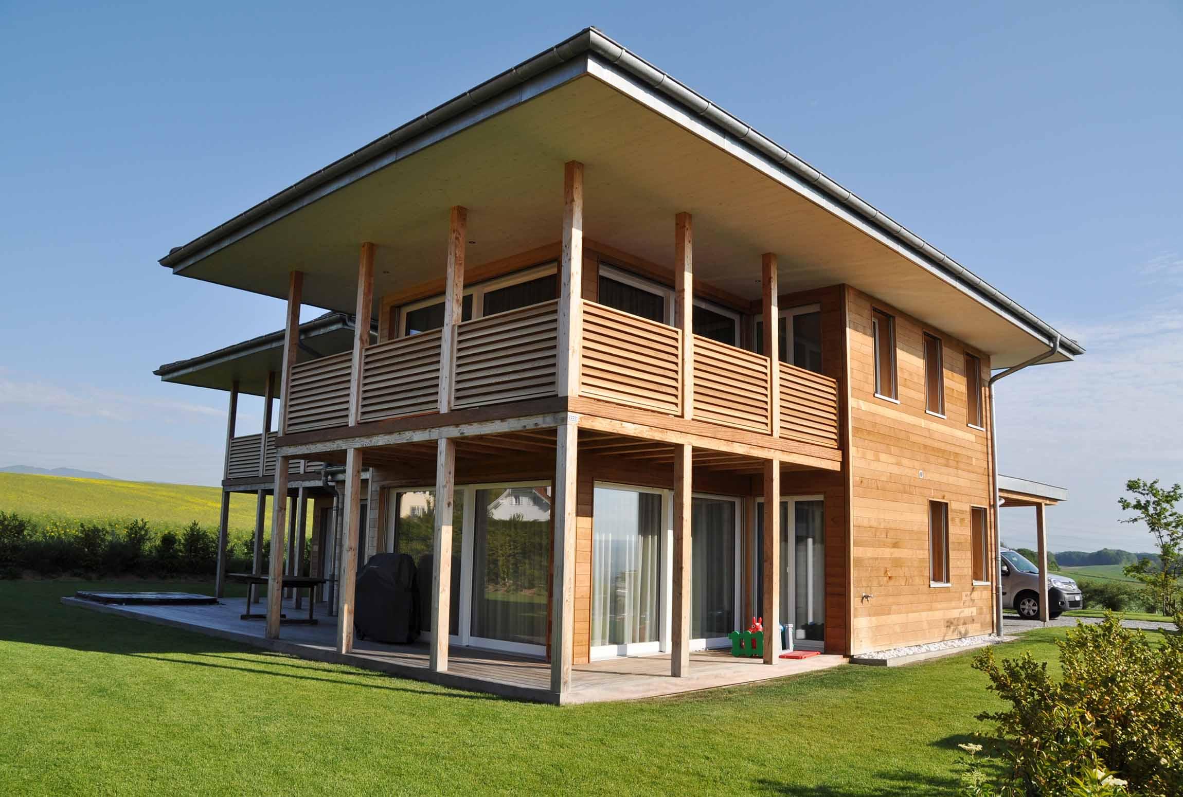 Charpente gebhardt sa for Villa ossature bois